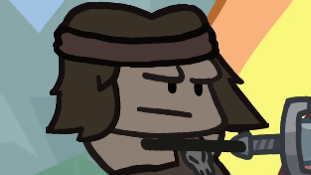 Conan draws his sword in Conan Chop Chop