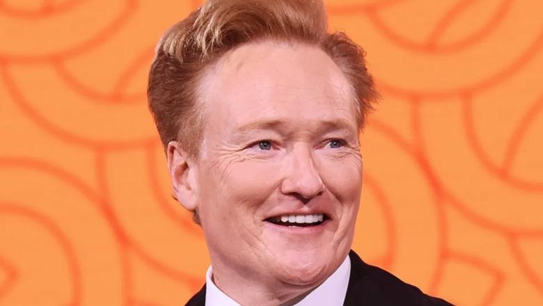 Conan O'Brien doing his monologue