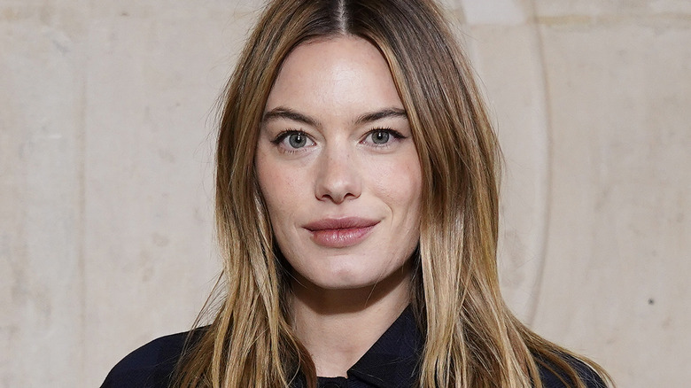 Camille Rowe posing for photo