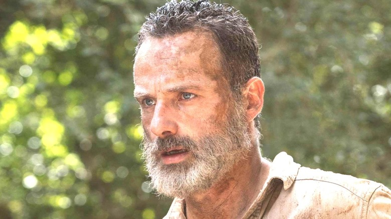 Rick Grimes looking defeated