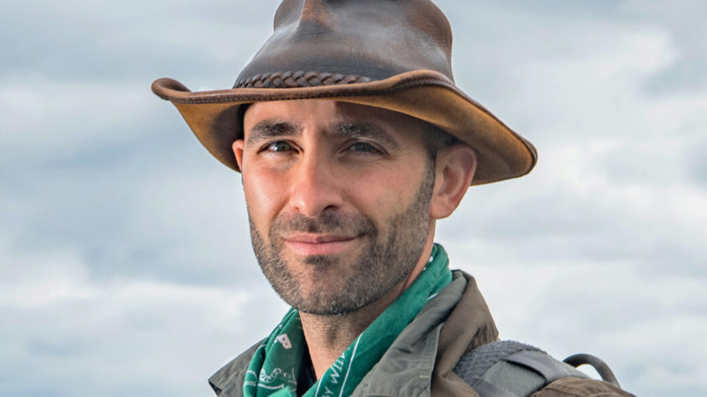 Animal expert Coyote Peterson in the wild