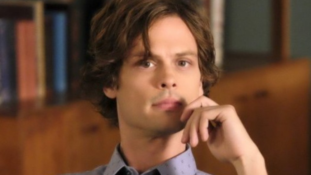 Reid looks thoughtful on Criminal Minds