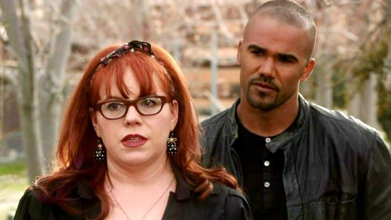 Shemar Moore as Derek Morgan and Kirsten Vangsness as Penelope Garcia in Criminal Minds