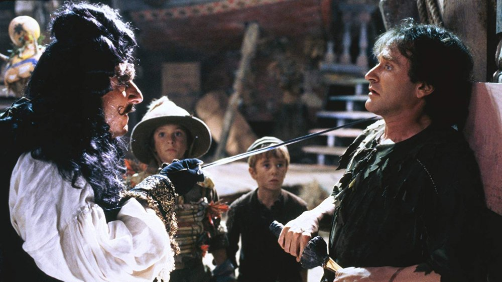 Dustin Hoffman and Robin Williams in Hook