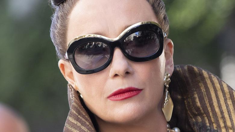 Emma Thomson Baroness von Hellman sunglasses