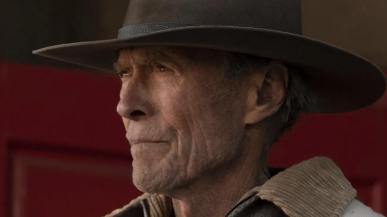 Clint Eastwood wearing cowboy hat