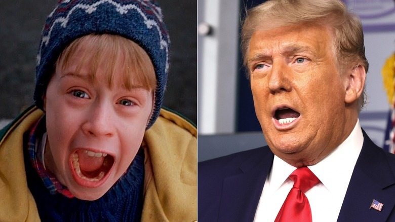 Kevin McCallister and Donald Trump open-mouthed
