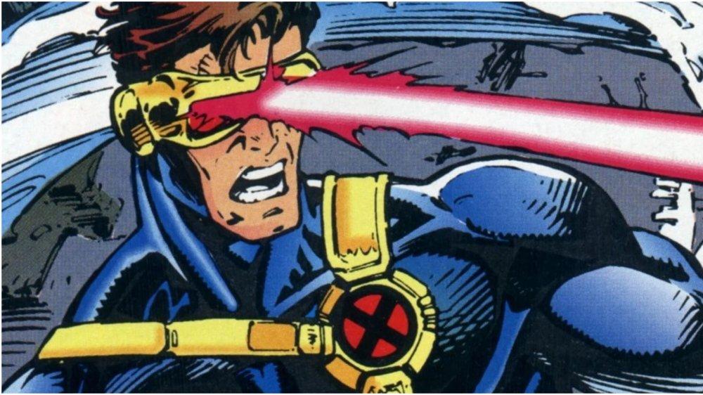 Scott Summers, AKA Cyclops, unleashing his optic blast