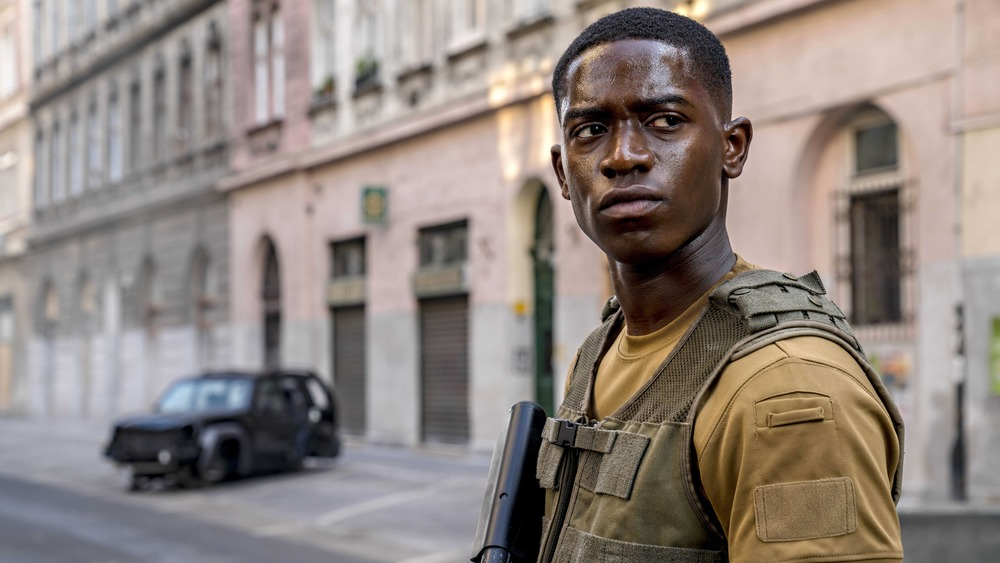 Damson Idris as Harp, in OUTSIDE THE WIRE