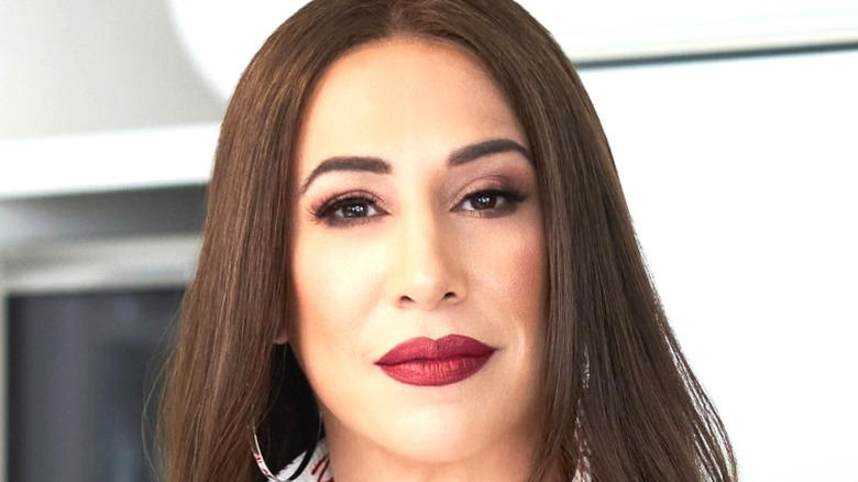 Dany Garcia red lipstick