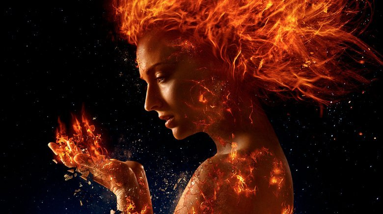 Sophie Turner X-Men Dark Phoenix fire hair