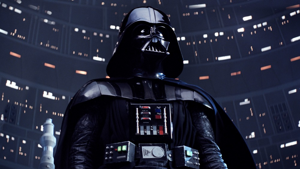 David Prowse suited up as Darth Vader in Star Wars