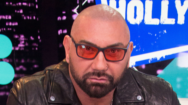 Dave Bautista wearing sunglasses