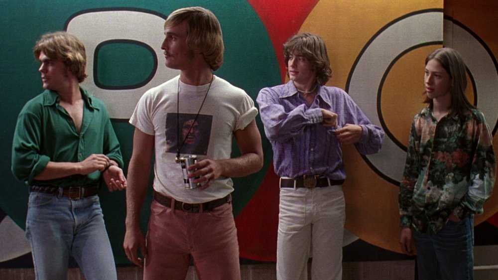 Matthew McConaughey as Wooderson and Wiley Wiggins as Mitch in Dazed and Confused