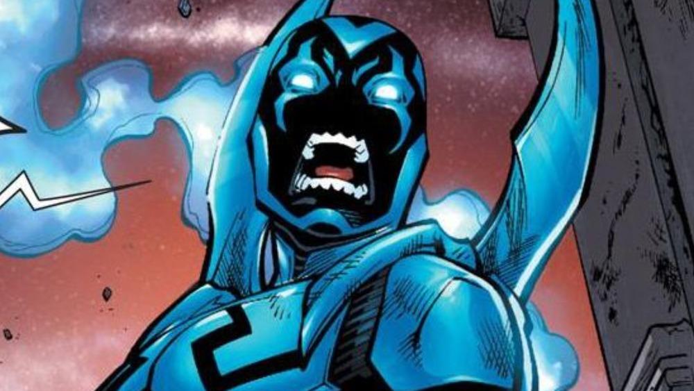 Blue Beetle angry