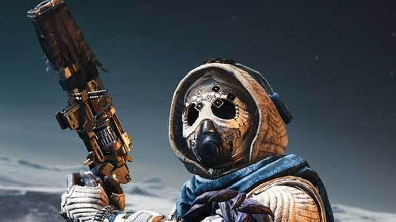 Destiny 2 guardian face close up