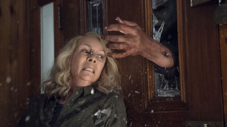 Laurie Strode and Michael Myers in Halloween 2018