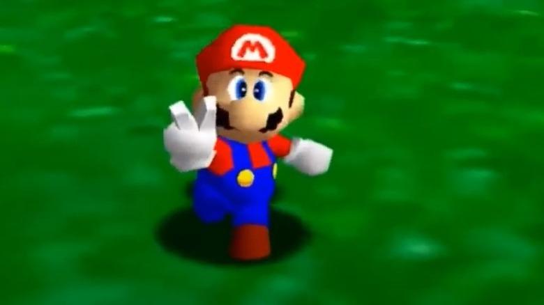 Super Mario 64 Peace sign