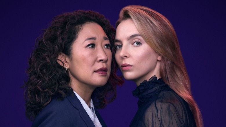 Sandra Oh as Eve and Jodie Comer as Villanelle on Killing Eve