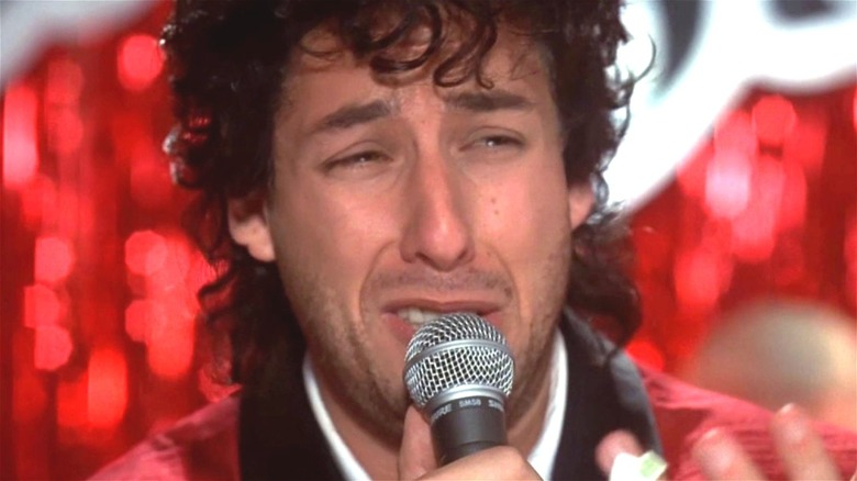 Adam Sandler crying into the mic