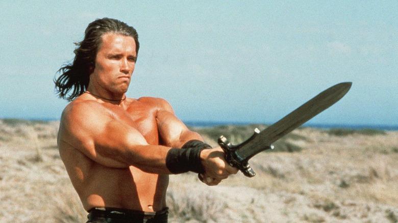 Conan the Barbarian holding a sword