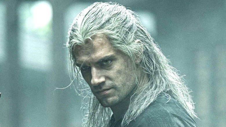 Geralt angry with hair in his face