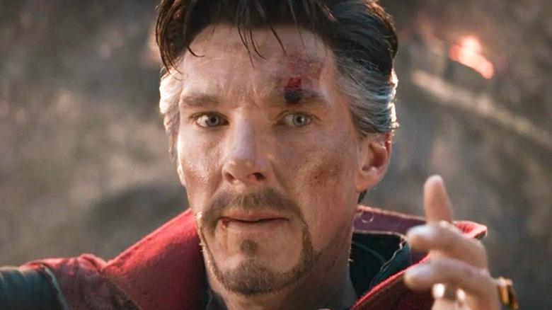 Doctor Strange Endgame bloody eyebrow