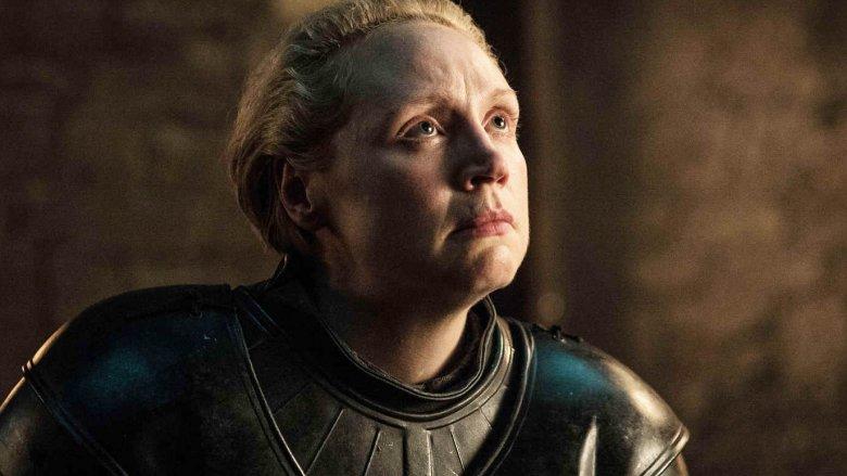 Gwendoline Christie as Brienne of Tarth on Game of Thrones