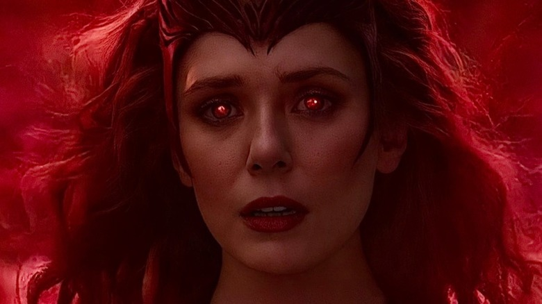 Scarlet Witch using her magic