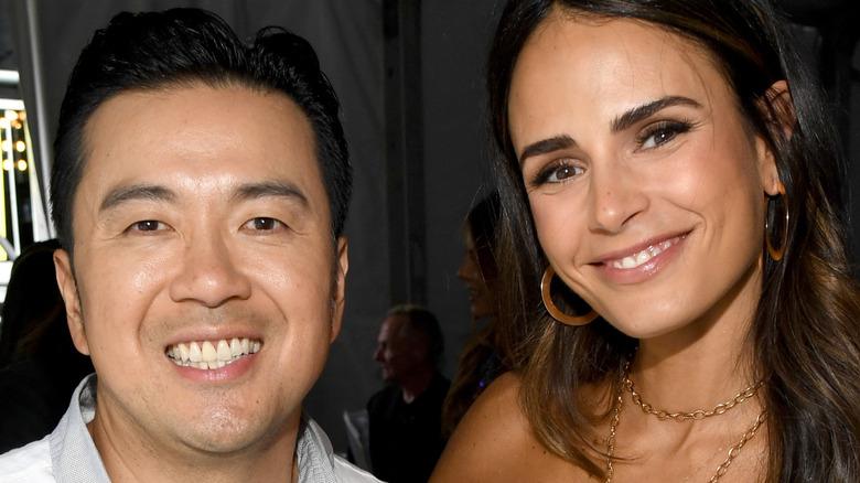 Justin Lin and Jordana Brewster smiling