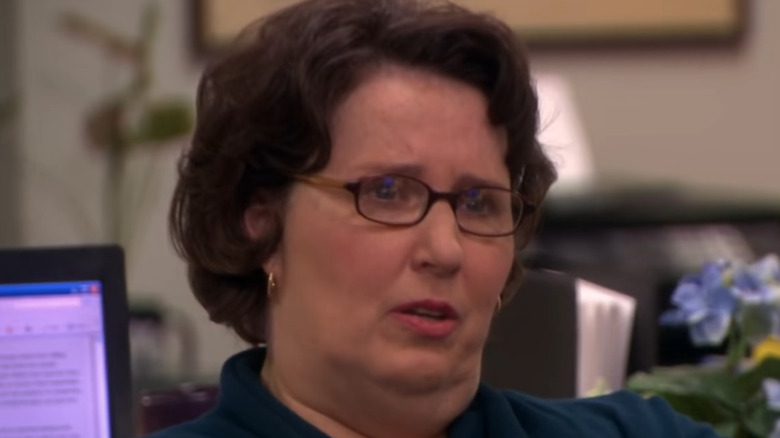 Phyllis questions Michael