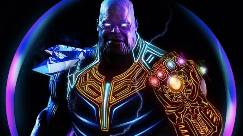 Neon Avengers Thanos artwork
