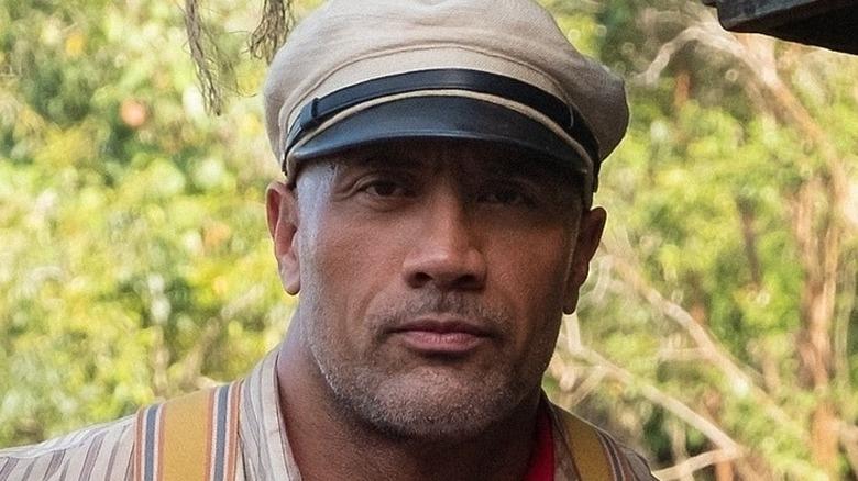 Dwayne Johnson wearing captain's hat