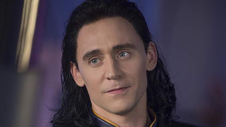 Loki looking smirking