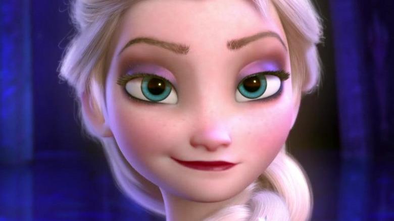 Elsa smirking in ice palace
