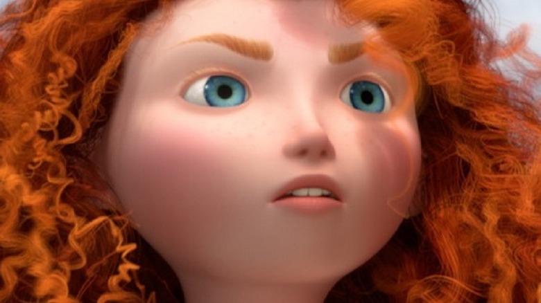 Merida staring off