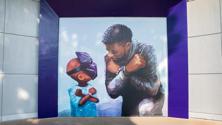 Chadwick Boseman at Disneyland