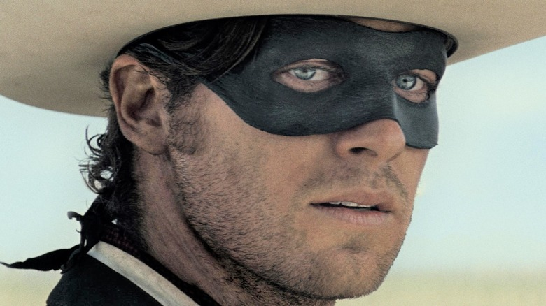 Lone Ranger wearing mask