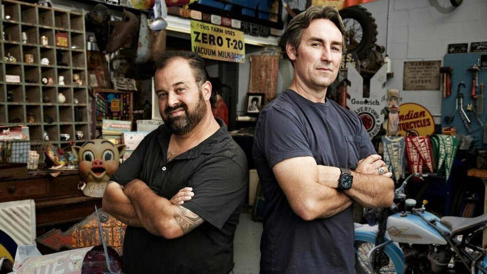 Frank Fritz and Mike Wolfe on American Pickers