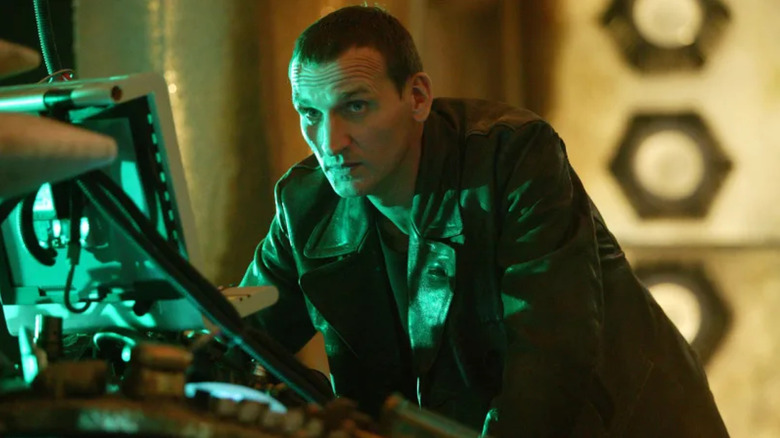 Christopher Eccleston as the Ninth Doctor on Doctor Who