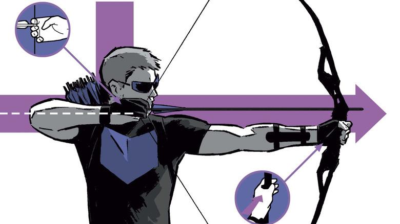 """Hawkeye on the cover of """"Hawkeye #2"""""""