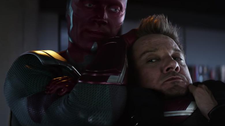 "Hawkeye inspiring Wanda to help him fight Vision in ""Captain America: Civil War"""