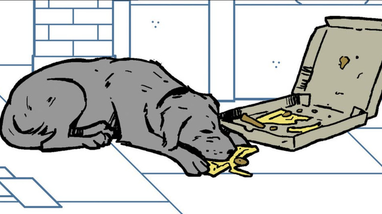 """Lucky the Pizza Dog in """"Hawkeye #11"""""""