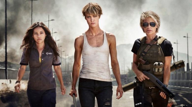 the cast of Terminator: Dark Fate