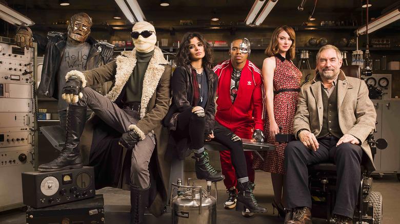 Brendan Fraser, Matt Bomer, Diane Guerrero, Joivan Wade, April Bowlby, and Timothy Dalton on Doom Patrol