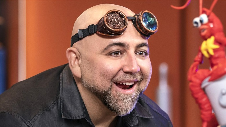 Duff Goldman with goggles up