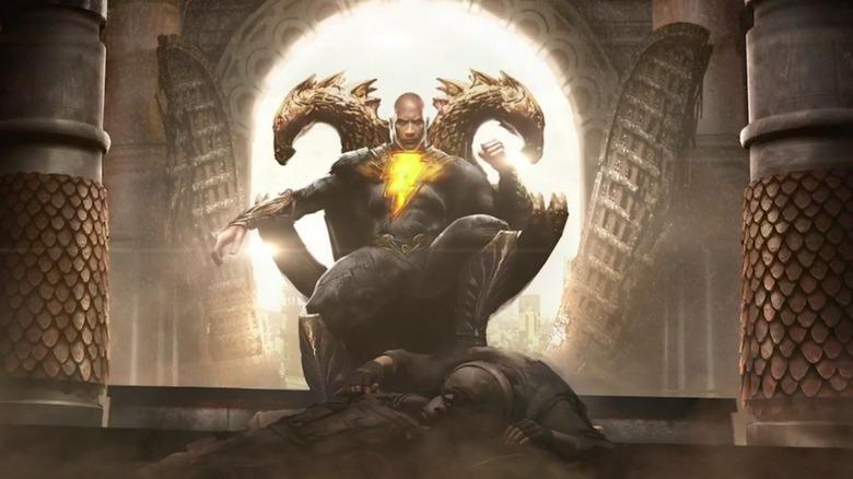 Concept art of Dwayne Johnson as Black Adam in Black Adam