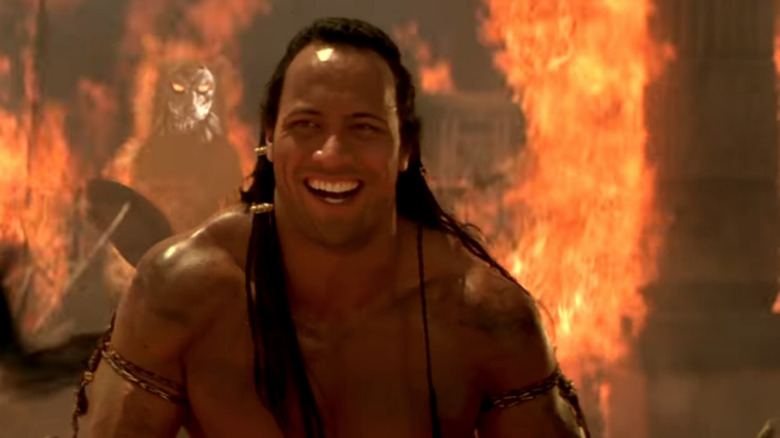 Dwayne Johnson  as The Scorpion King in the The Mummy Returns