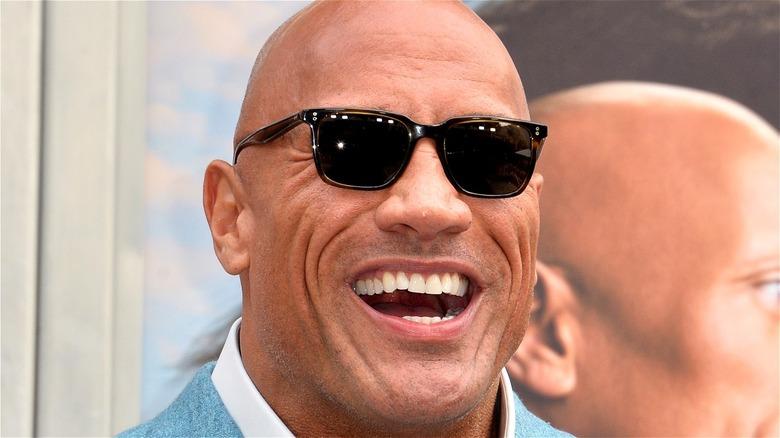 Dwayne Johnson wearing sunglasses