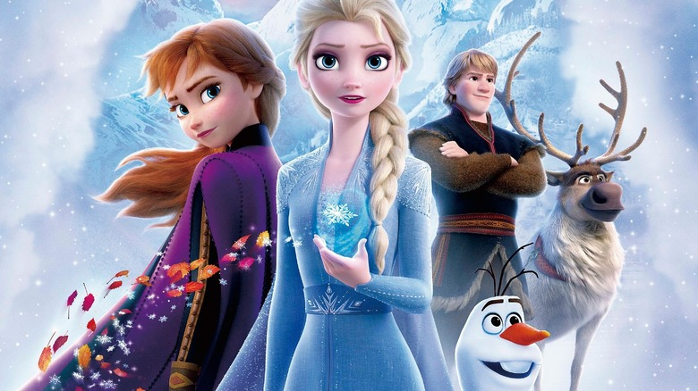 Anna and Elsa from Frozen 2
